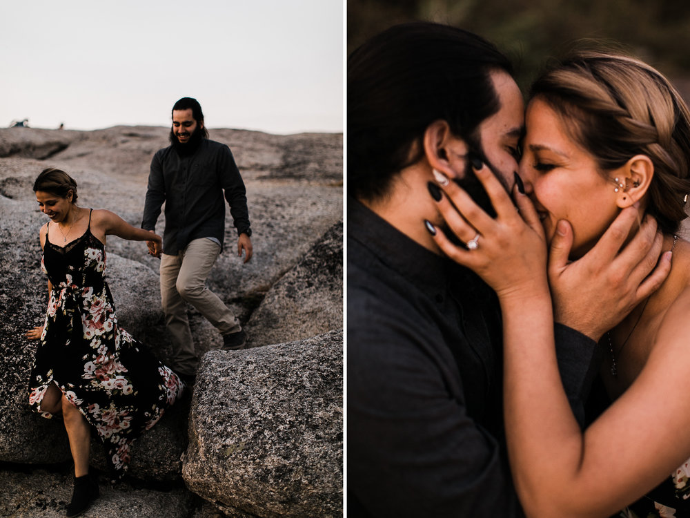 stephany + anthony's adventurous engagement session | taft point, yosemite national park | destination elopement photographer | the hearnes adventure photography | www.thehearnes.com