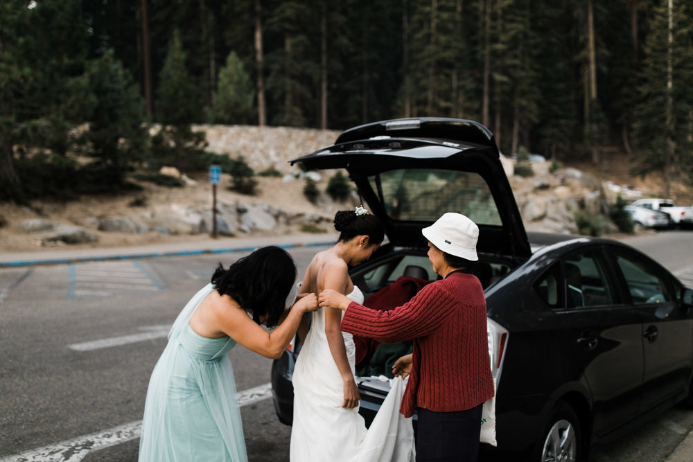 lin + earvin's intimate yosemite wedding | sunrise ceremony at glacier point | reception at the redwoods in wawona | the hearnes adventure photography | www.thehearnes.com