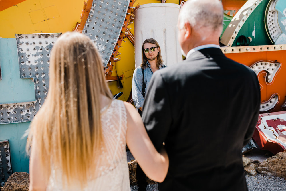 megan + zach's las vegas elopement at the neon museum | sunset wedding portraits at zion national park | utah adventure wedding photographer | the hearnes adventure photography | www.thehearnes.com