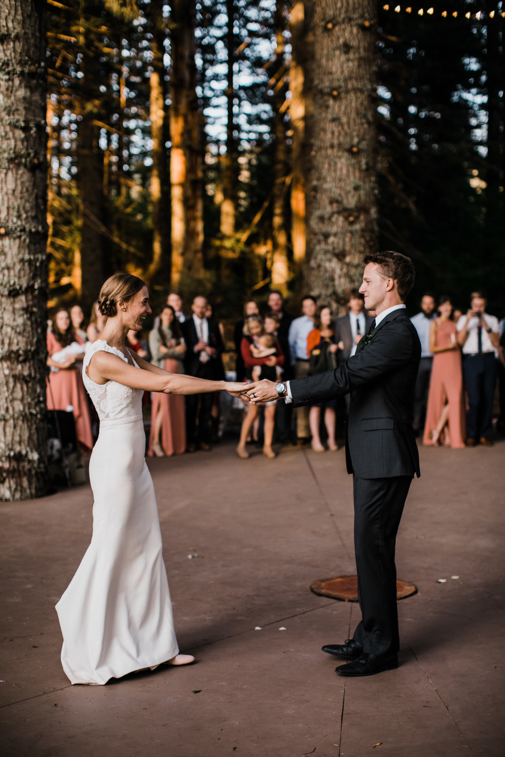 jena + kyler's treehouse wedding | outdoor reception under the stars | washington adventure wedding photographer | the hearnes adventure wedding photography | www.thehearnes.com