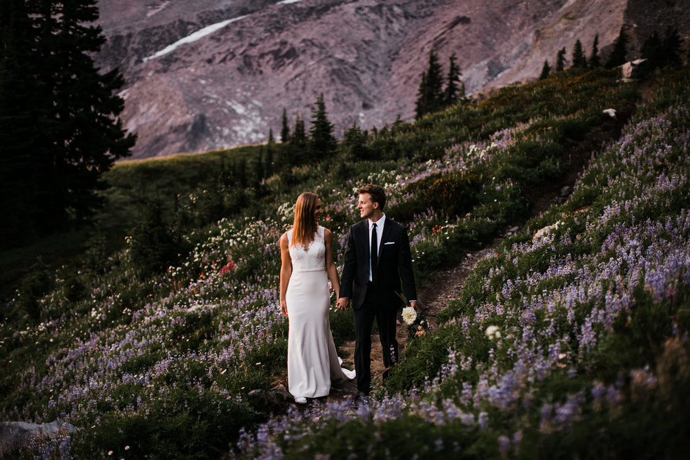 jena + kyler's wedding day-after session in mount rainier national park | washington adventure wedding photographer | the hearnes adventure photography | www.thehearnes.com