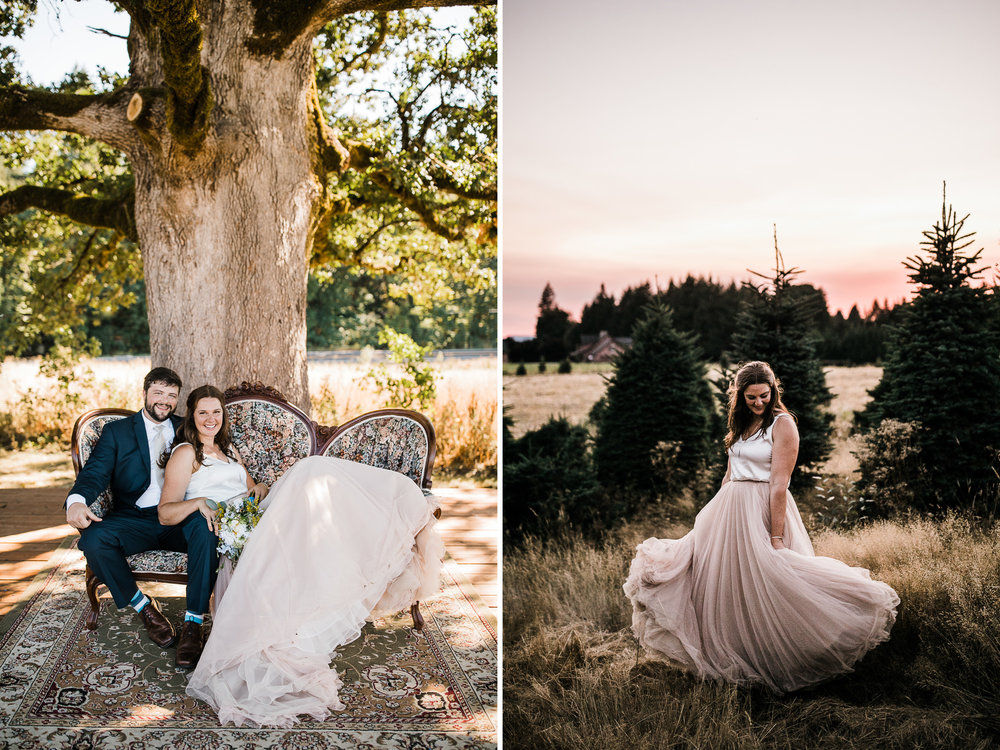 kati + joe's riverside wedding | adeline farms in woodland, washington | washington adventure wedding photographer