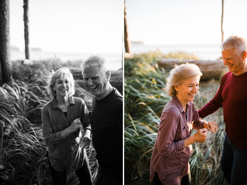 adventurous anniversary session | married 36 years | olympic national park | washington wedding photographer | the hearnes adventure photography | www.thehearnes.com
