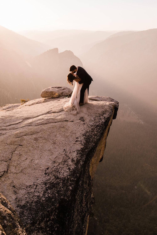 adventurous yosemite elopement   sunrise at glacier point   sunset wedding ceremony at taft point   destination elopement photographer   the hearnes adventure photography   www.thehearnes.com