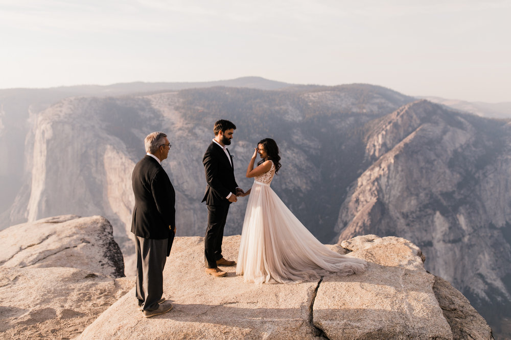 elopement ceremony at taft point in yosemite national park