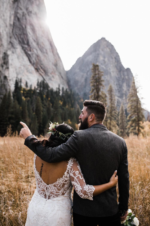 yosemite national park intimate wedding in el cap meadow