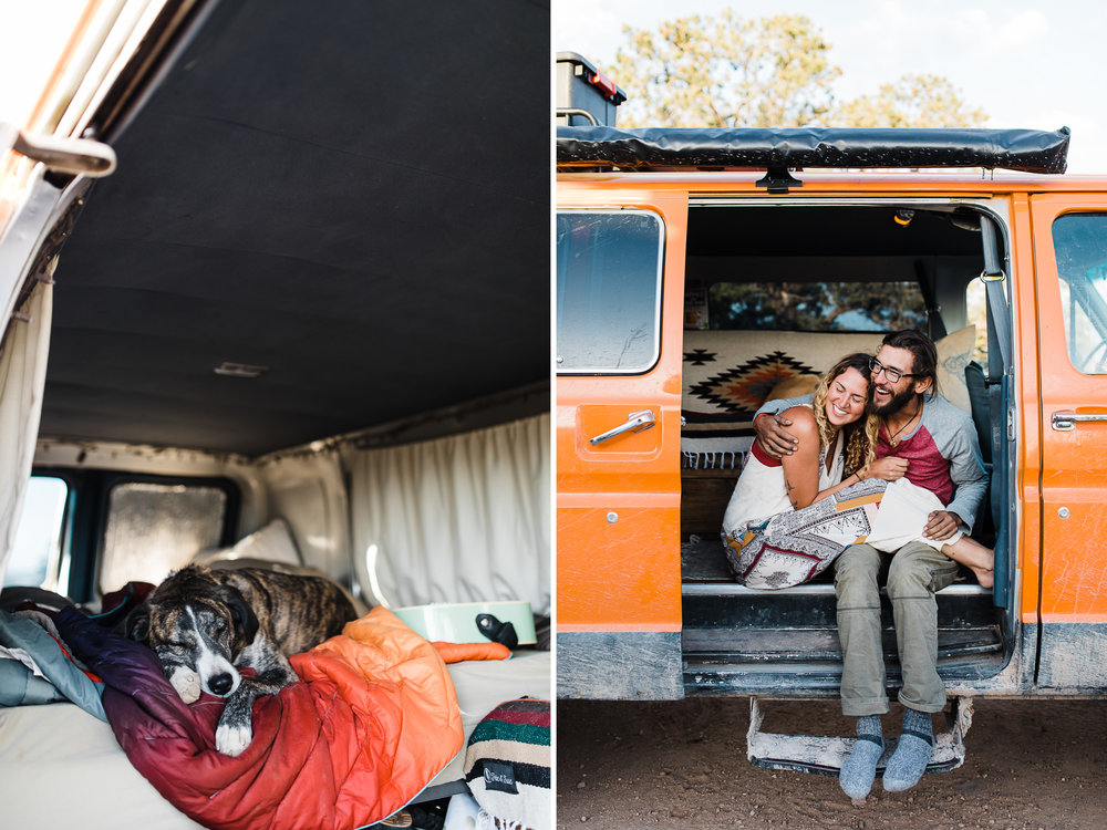 desert van life session | destination engagement photo inspiration | utah adventure elopement photographers | the hearnes adventure photography | www.thehearnes.com