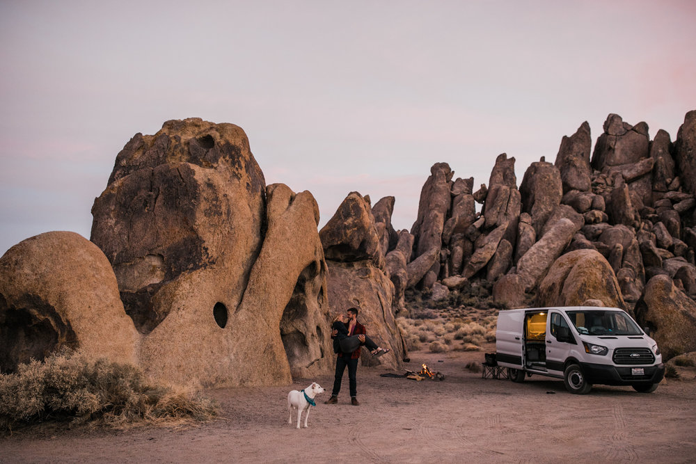 van life camping session | destination engagement photo inspiration | utah adventure elopement photographers | the hearnes adventure photography | www.thehearnes.com