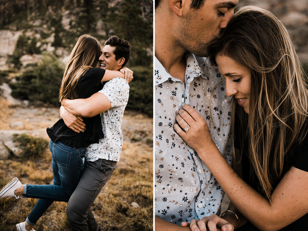 adventure engagement session in truckee | destination engagement photo inspiration | utah adventure elopement photographers | the hearnes adventure photography | www.thehearnes.com
