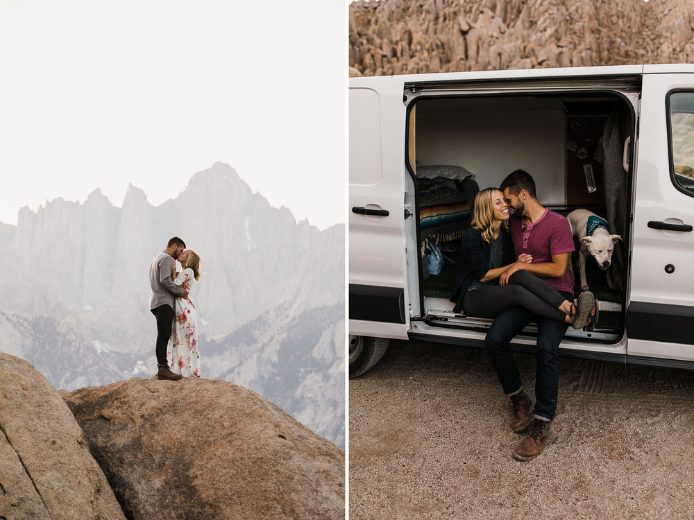 van life adventure engagement session | destination engagement photo inspiration | utah adventure elopement photographers | the hearnes adventure photography | www.thehearnes.com