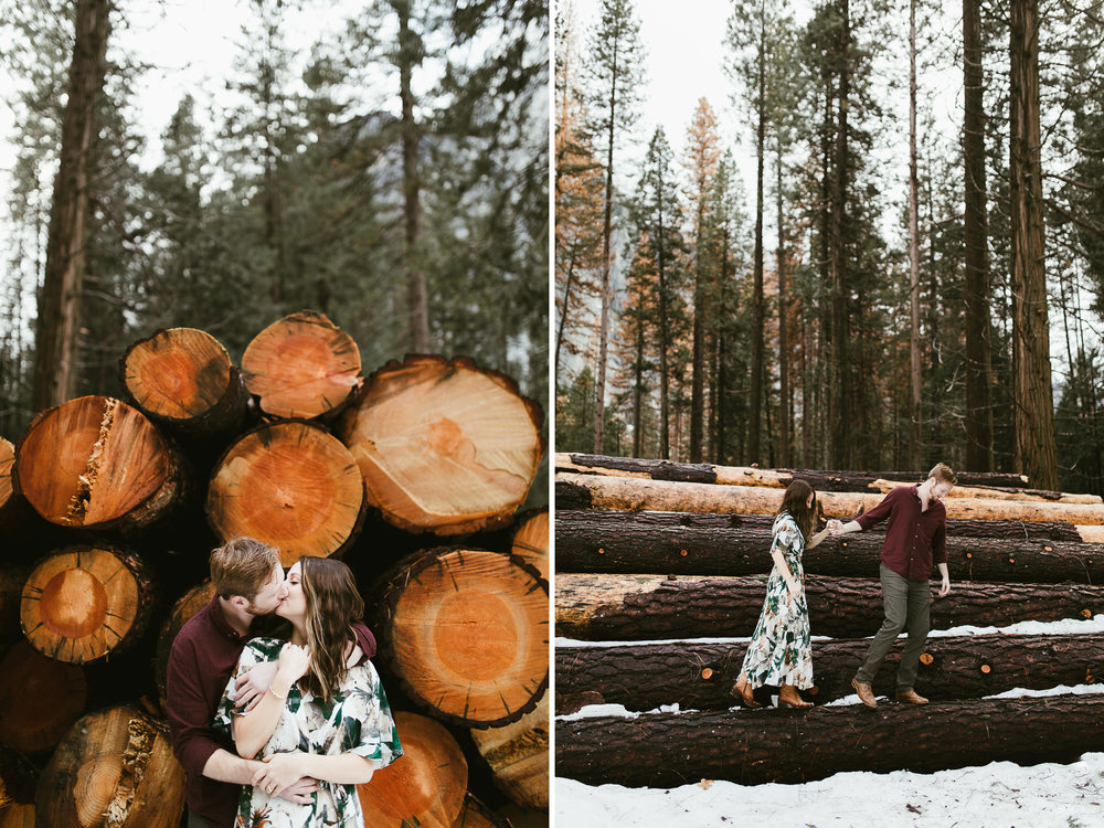 adventure engagement session in yosemite national park | destination engagement photo inspiration | utah adventure elopement photographers | the hearnes adventure photography | www.thehearnes.com