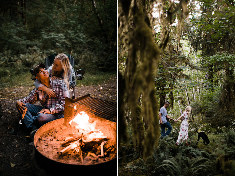 adventure engagement session in olympic national park | destination engagement photo inspiration | utah adventure elopement photographers | the hearnes adventure photography | www.thehearnes.com