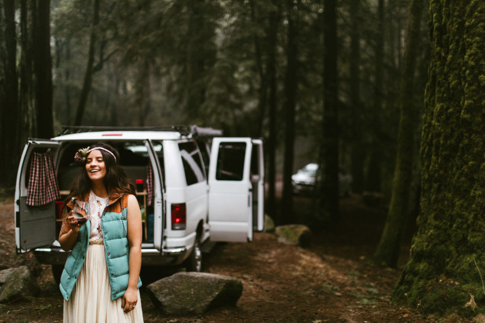 california redwood forest camping elopement | destination adventure wedding photographers | the hearnes adventure photography | www.thehearnes.com