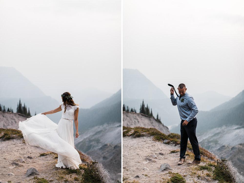 mount rainier adventure intimate wedding | destination adventure wedding photographers | the hearnes adventure photography | www.thehearnes.com