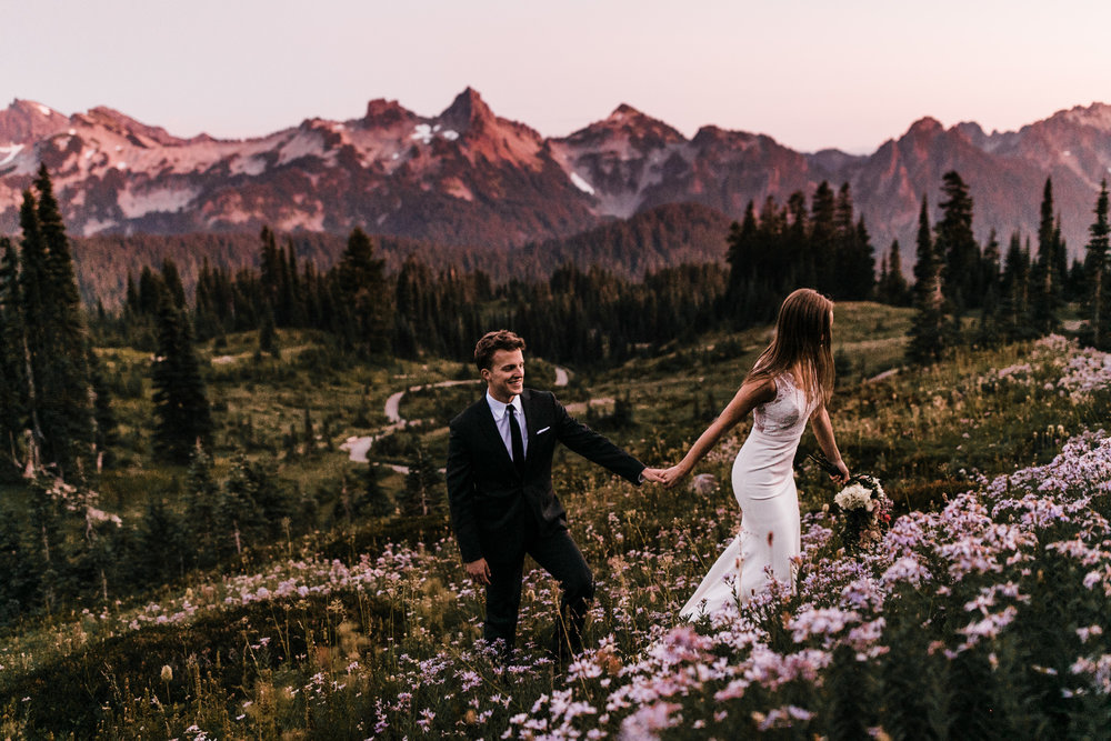 mount rainier national park elopement | destination adventure wedding photographers | the hearnes adventure photography | www.thehearnes.com