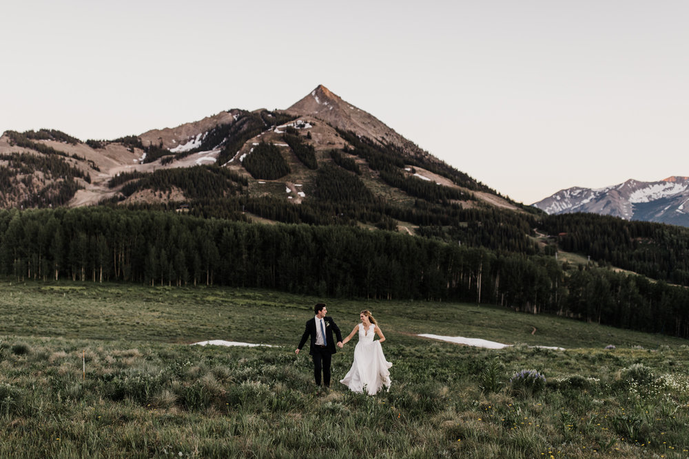 created butte ski resort intimate wedding day | destination adventure wedding photographers | the hearnes adventure photography | www.thehearnes.com