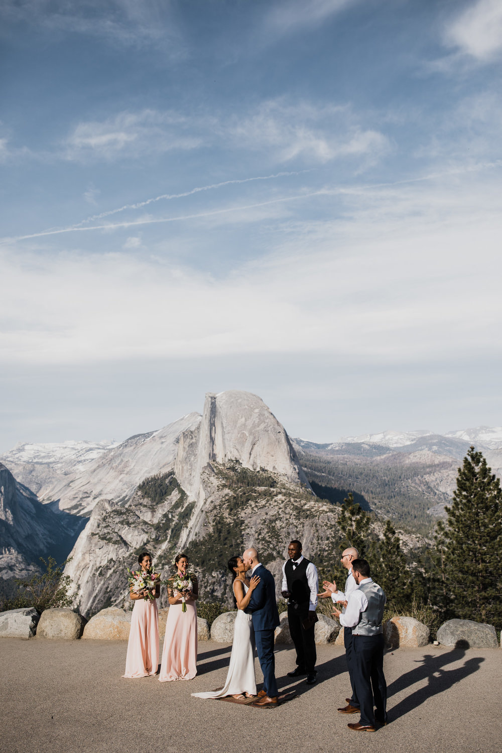glacier point wedding ceremony in yosemite national park | destination adventure wedding photographers | the hearnes adventure photography | www.thehearnes.com