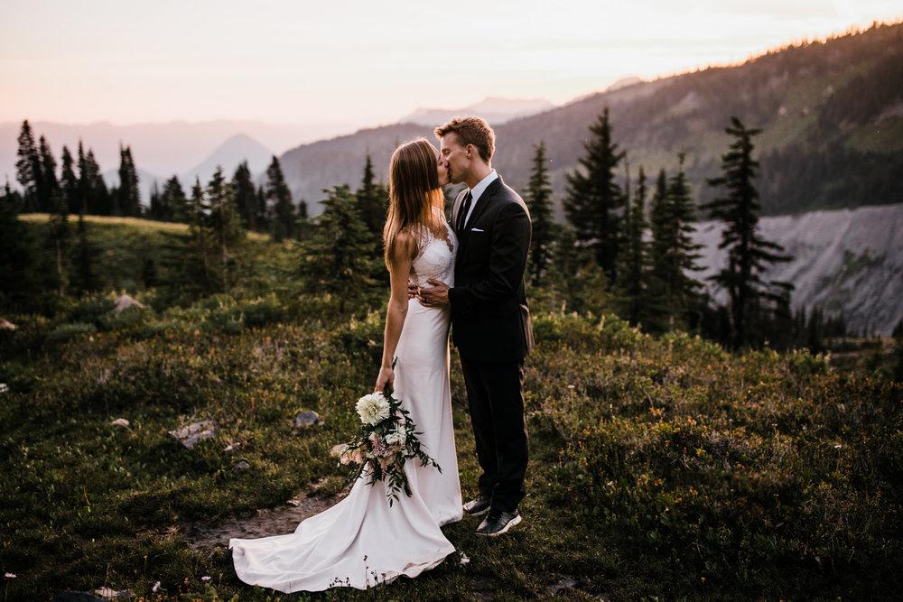 elopement in mount rainier national park | destination adventure wedding photographers | the hearnes adventure photography | www.thehearnes.com