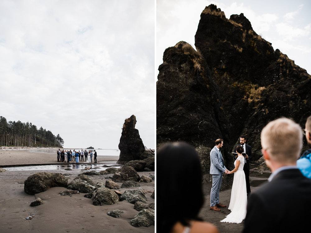 intimate wedding day in olympic national park | destination adventure wedding photographers | the hearnes adventure photography | www.thehearnes.com