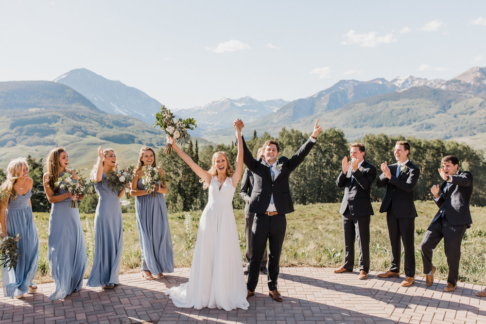 intimate wedding day in crested butte, colorado | destination adventure wedding photographers | the hearnes adventure photography | www.thehearnes.com
