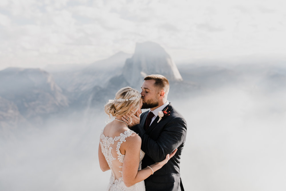 sunrise elopement in yosemite national park | destination adventure wedding photographers | the hearnes adventure photography | www.thehearnes.com