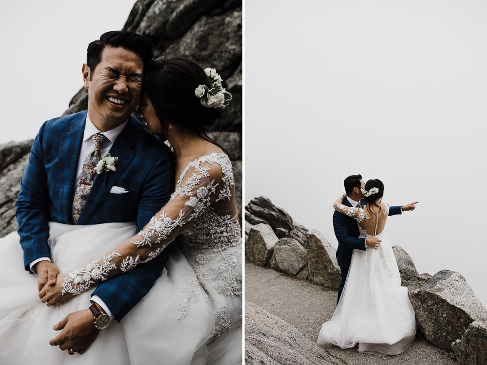 foggy elopement day in sequoia national park | destination adventure wedding photographers | the hearnes adventure photography | www.thehearnes.com