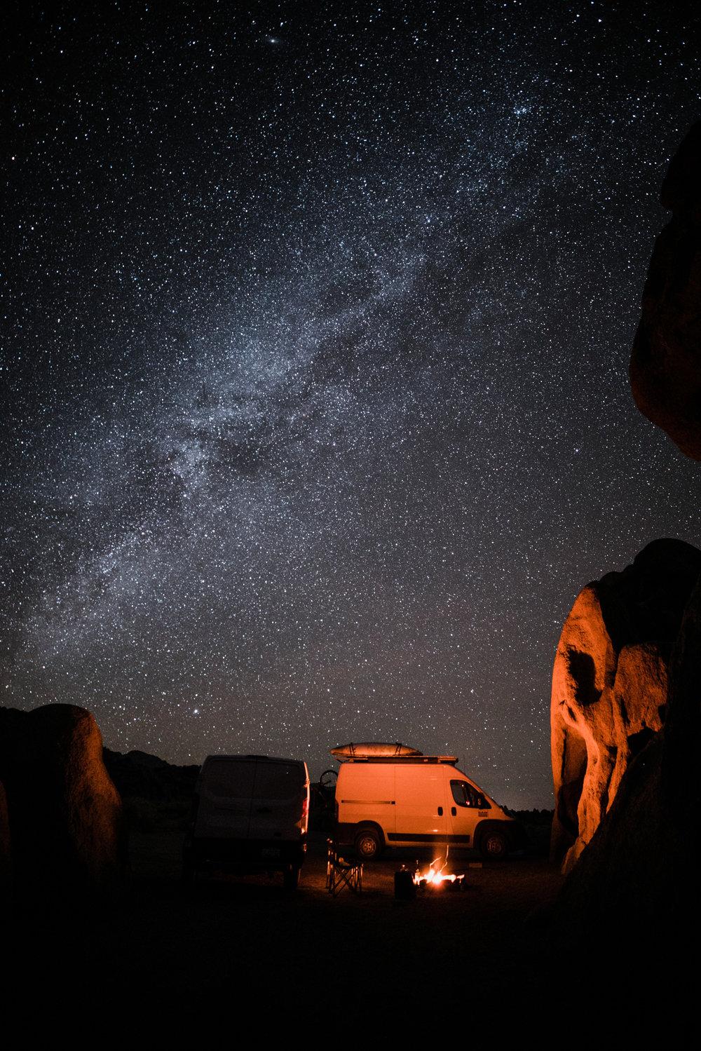 camping in california desert | utah and california adventure elopement photographers | the hearnes adventure photography | www.thehearnes.com