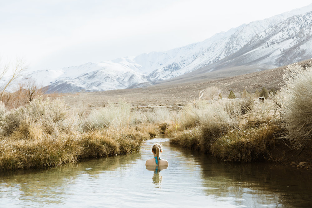 hot springs in the mountains | utah and california adventure elopement photographers | the hearnes adventure photography | www.thehearnes.com