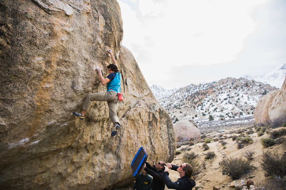 climbing in bishop california | utah and california adventure elopement photographers | the hearnes adventure photography | www.thehearnes.com