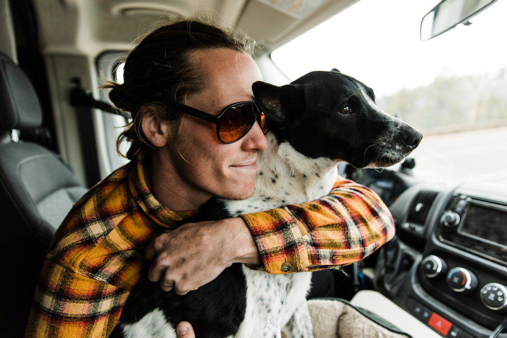 vanlife with a dog | utah and california adventure elopement photographers | the hearnes adventure photography | www.thehearnes.com