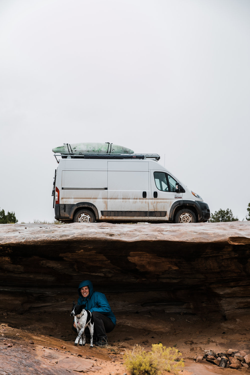 rainy day in moab utah | utah and california adventure elopement photographers | the hearnes adventure photography | www.thehearnes.com