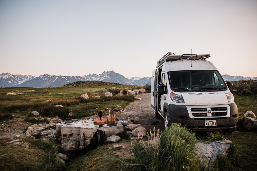 eastern sierras hot springs van life in the mountains