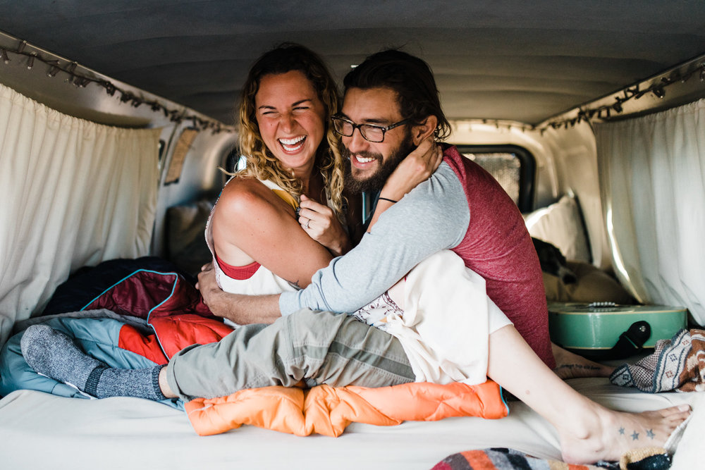 van life adventure session in the desert with brianna and keith madia
