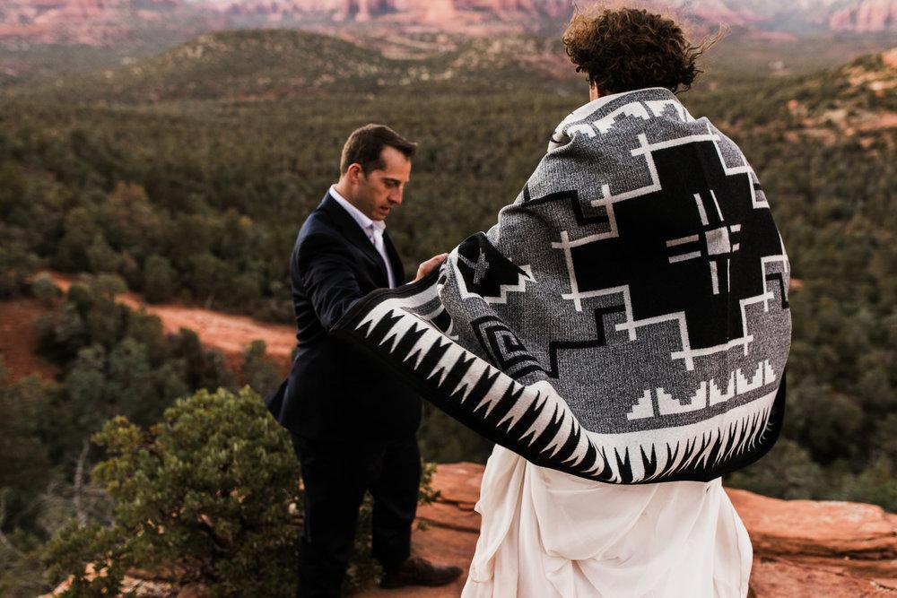 adventure elopement in sedona, arizona | travel destination wedding photographers | the hearnes adventure photography | www.thehearnes.com