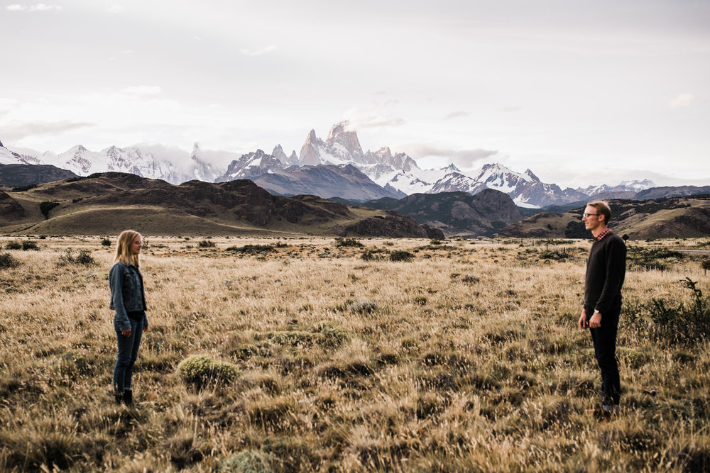 adventure photo session in el chalten | fitz roy, patagonia, argentina | patagonia destination wedding photographer | the hearnes adventure photography | www.thehearnes.com