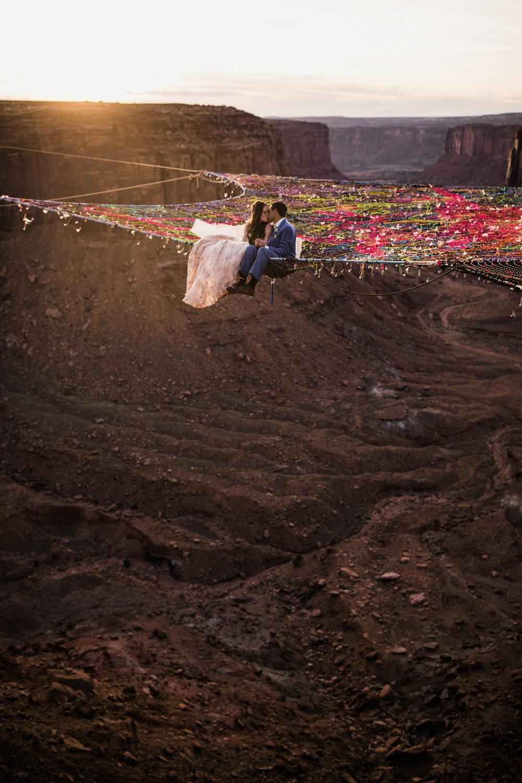 spacenet wedding in the sky in moab utah