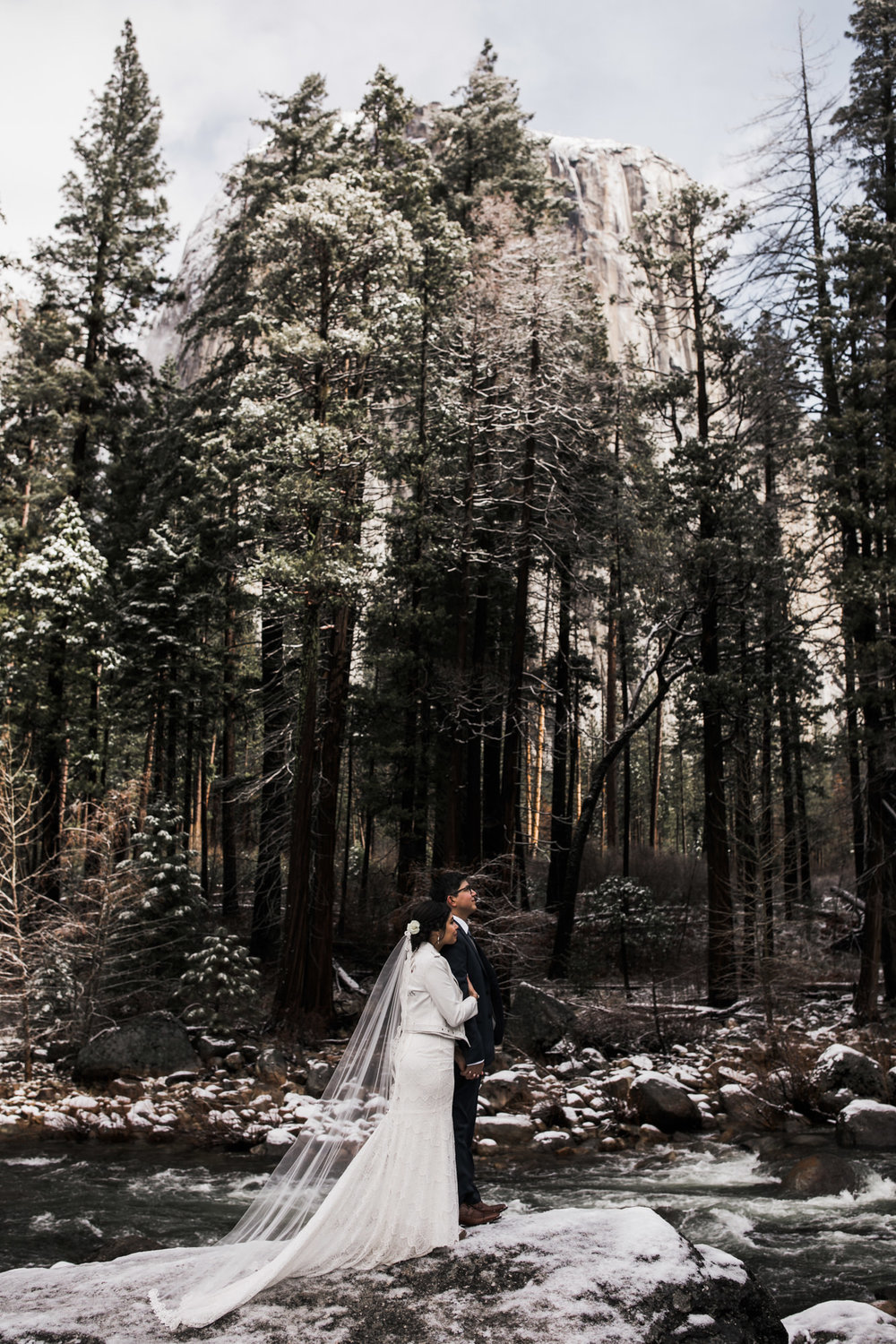 snowy wedding inspiration