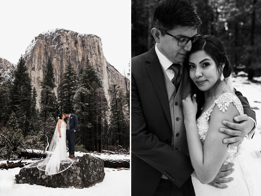 elopement portrait session in yosemite national park