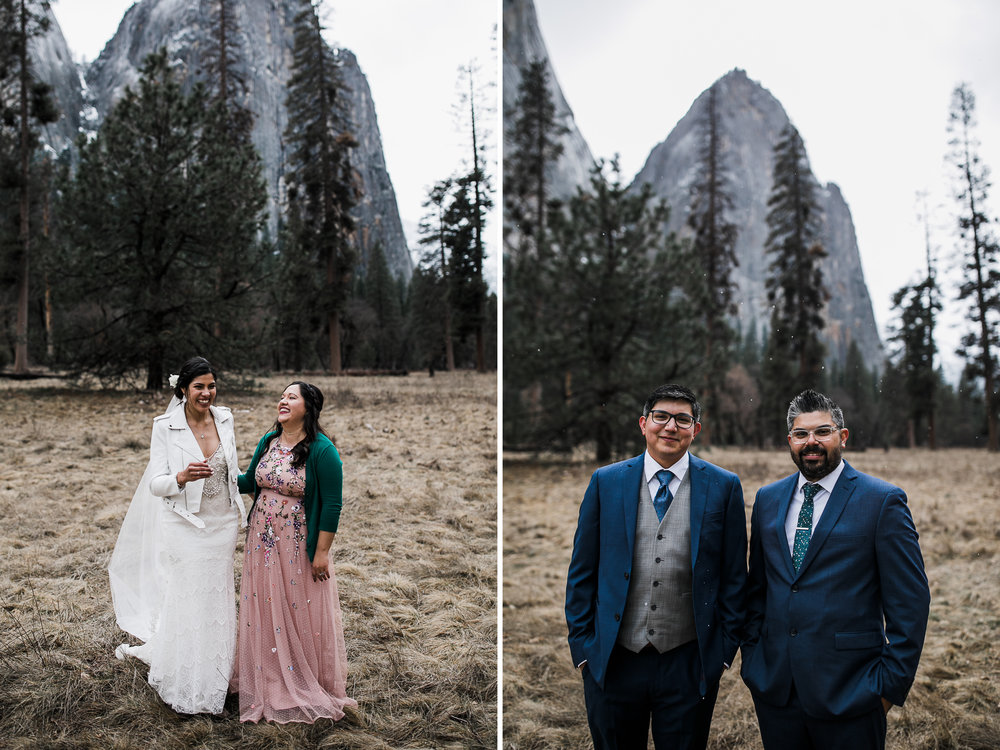 wedding day style in yosemite