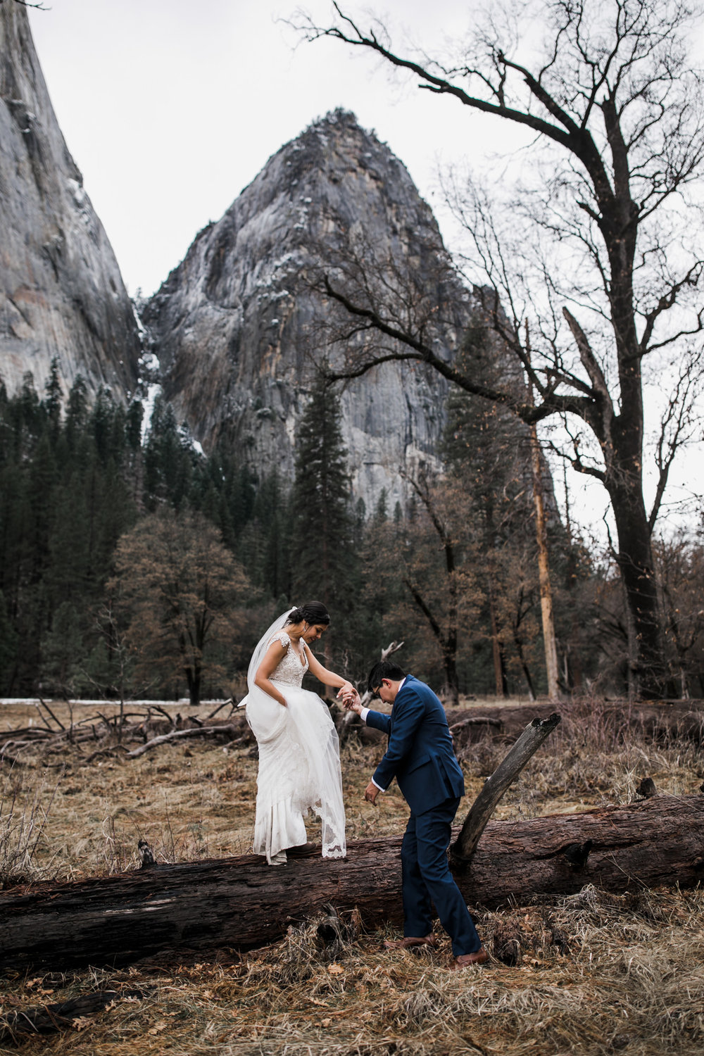 adventure elopement photographer in yosemite