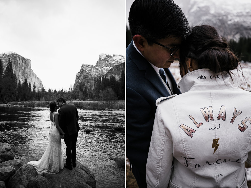 custom bridal jacket for a winter wedding