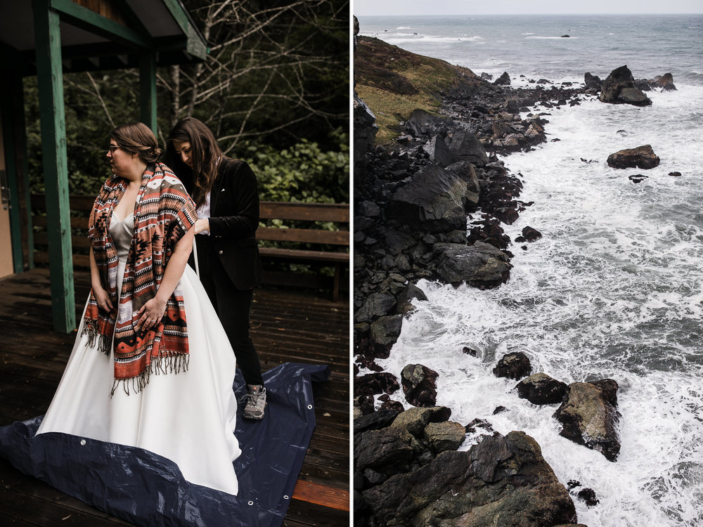 elopement on the california coast