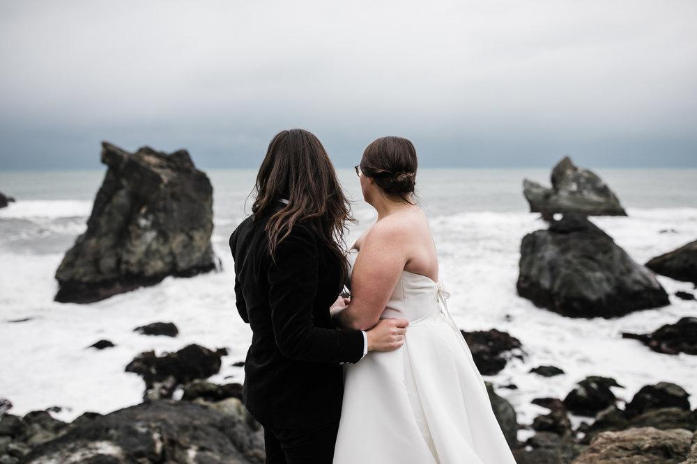 adventure elopement on the northern california coast