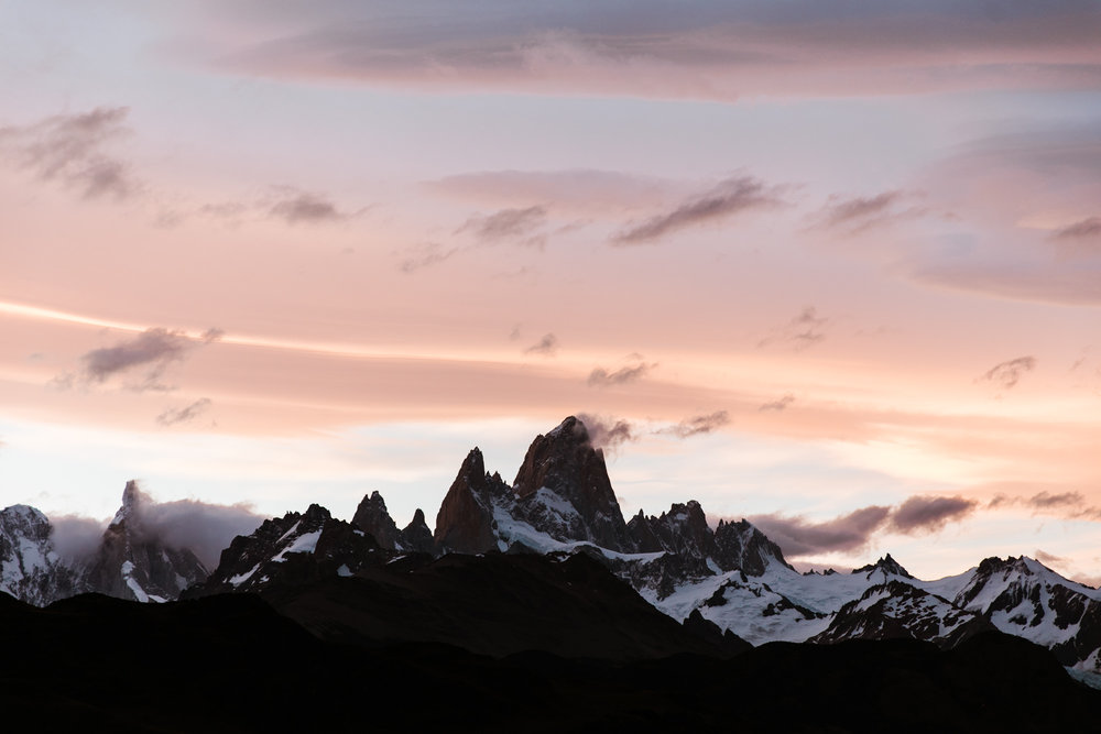 fitz roy sunset