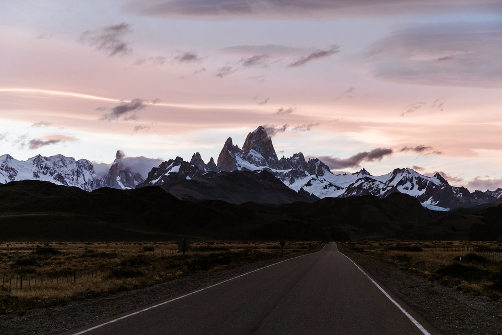 patagonian sunset near el chalten