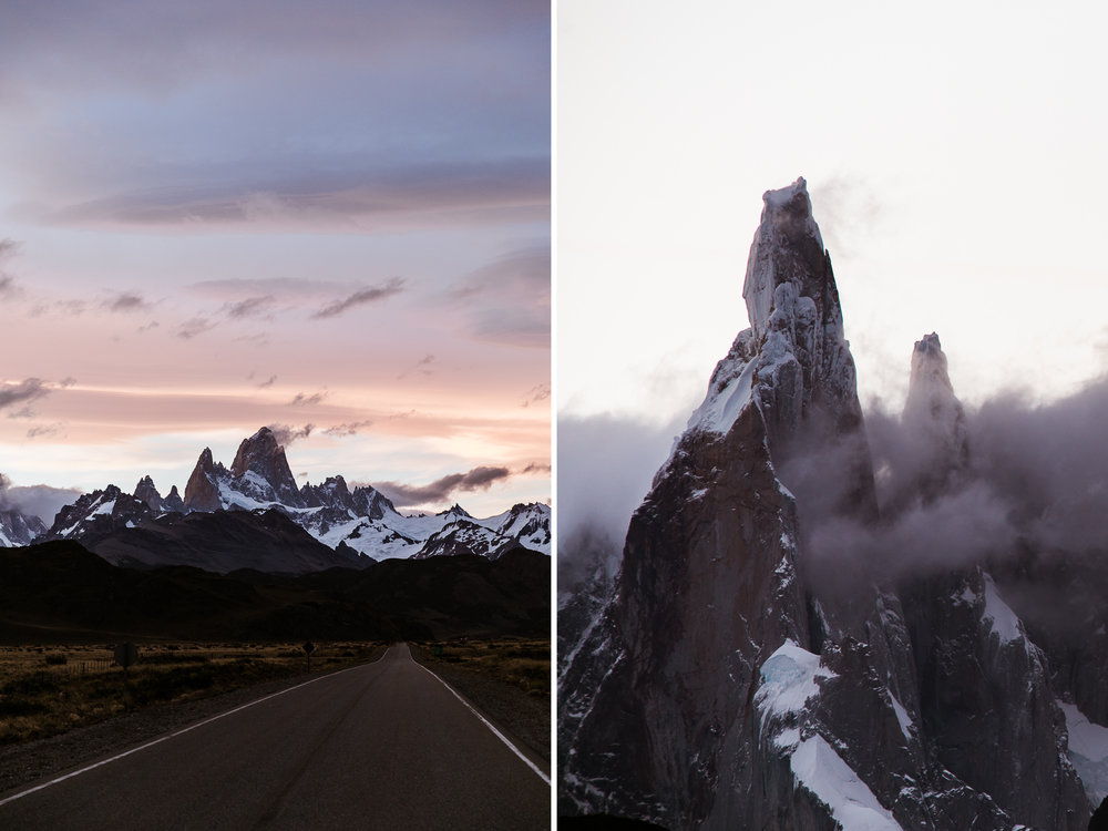 fitx roy and cerro torre in patagonia