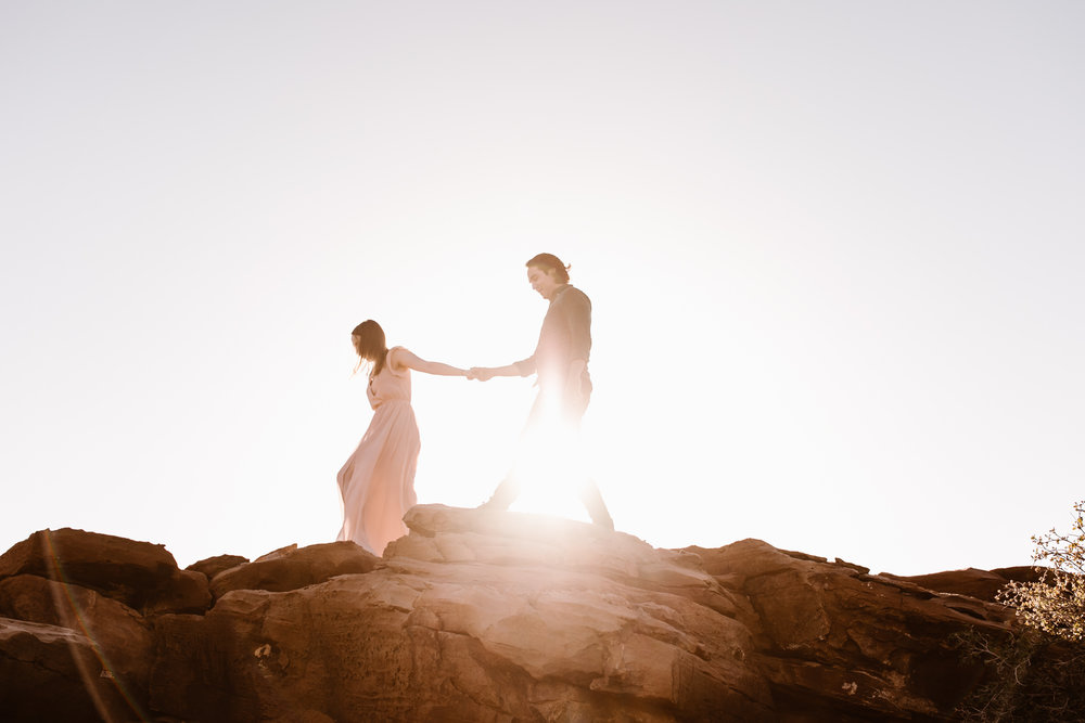 michelle + damian's post-elopement adventure session in moab