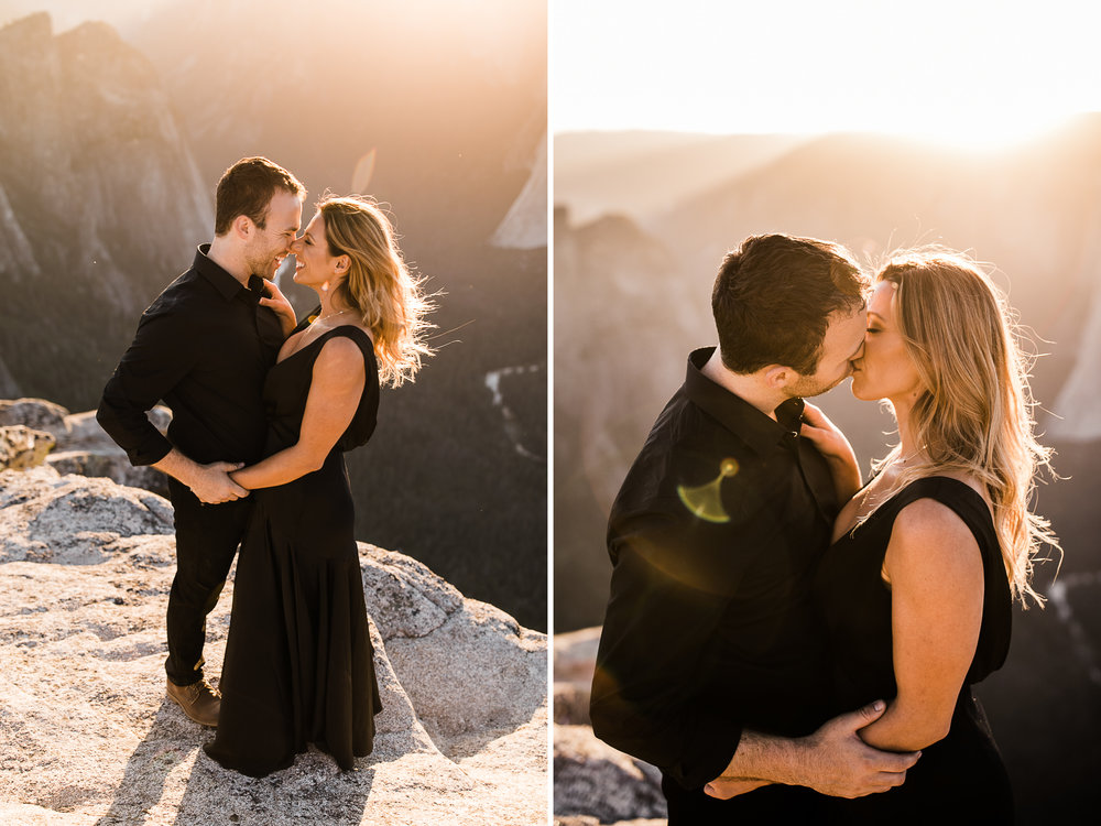 alexandra + david's destination engagement session in the mountains | yosemite elopement inspiration | taft point engagement photos | yosemite national park wedding photographer