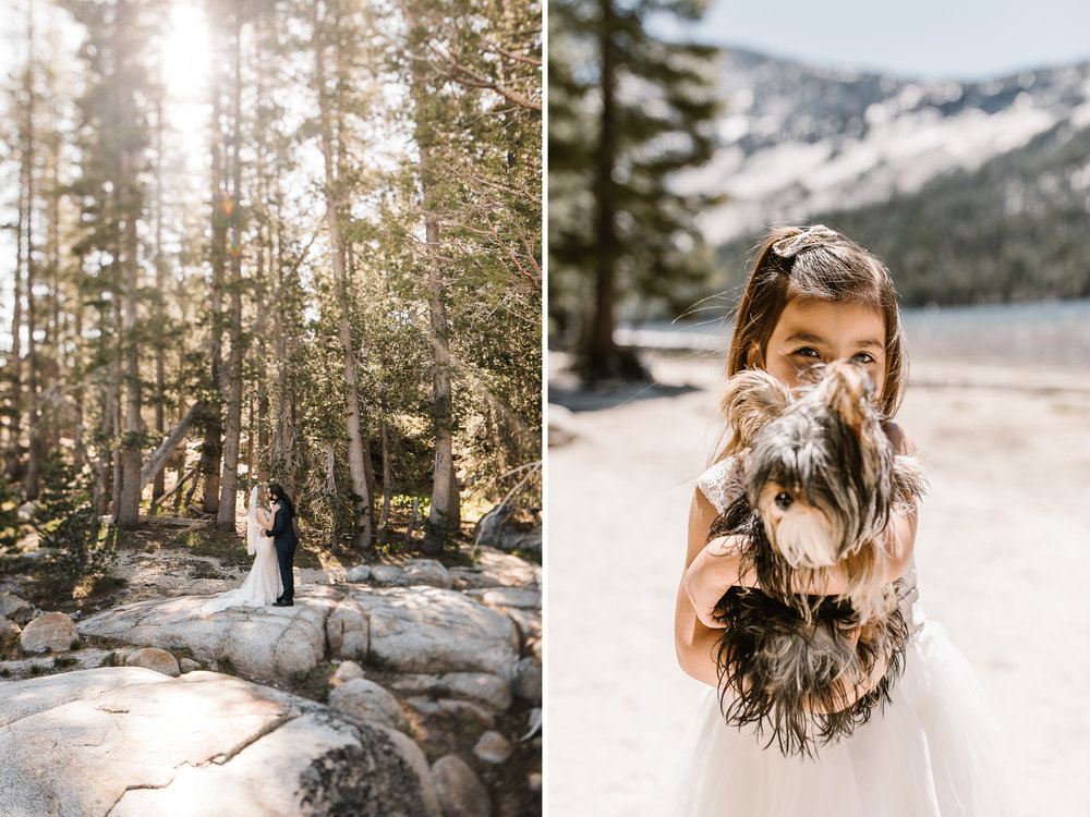 stephany and anthony's intimate wedding in yosemite | tenaya lake ceremony + lake side reception | national park elopement photographer