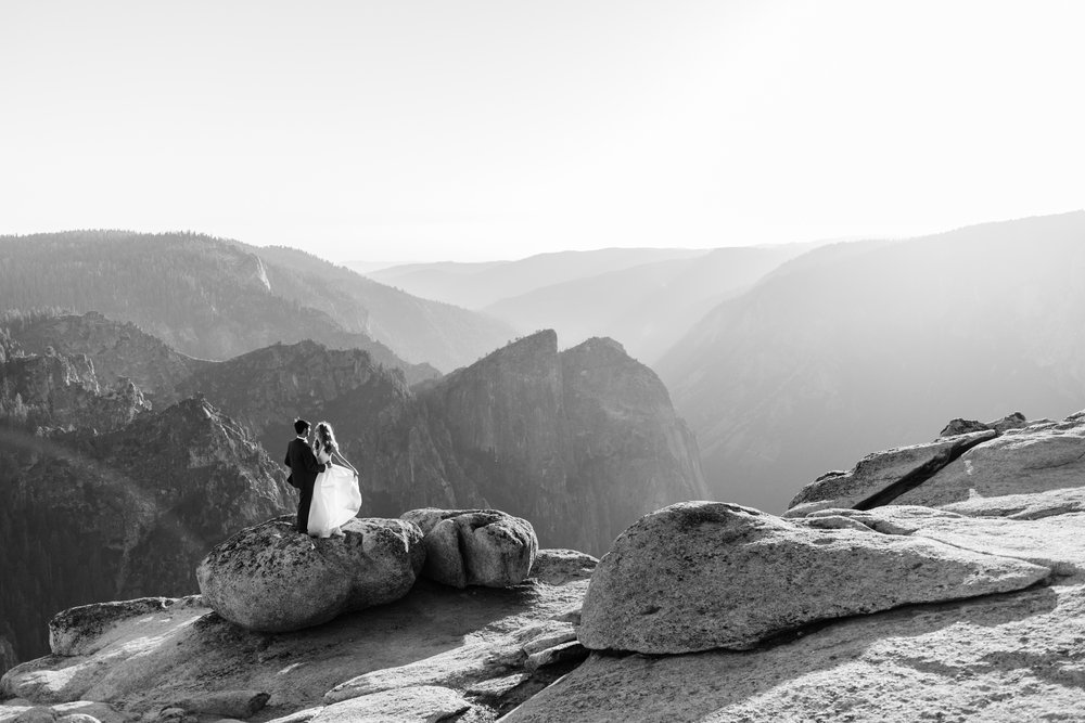 Chas + Michelle's adventurous wedding portraits | post-elopement photos in yosemite national park | adventure wedding photographer